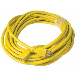 Cordon électrique commercial - longueur de 15 m (50') - 14/3 - 600 V - jaune