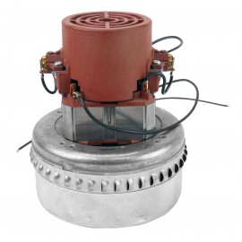"Bypass Vacuum Motor - 5.7"" dia - 2 Fans - 120 V - 10 A - 1000 W - 364 Airwatts - 80"" Water Lift - 104' CFM - Domel 492.3.575-4 - Used"