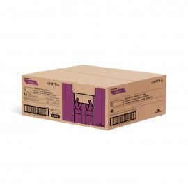 """Papier essuie-mains - plis multiples - 9"""" x 9,45"""" (22,9 cm x 24 cm) - boîte de 16 paquets de 250 feuilles - brun - Cascades Pro H175"""