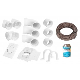 Installation Kit for Central Vacuum - 1 Inlet - with Accessories