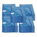 Chiffon en microfibre pour nettoyer les vitres - 14'' x 14'' (35,5 cm x 35,5 cm) - bleu - paquet de 25