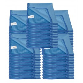Chiffon en microfibre pour nettoyer les vitres - 14'' x 14'' (35,5 cm x 35,5 cm) - bleu