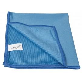 Microfiber Cloth for Window Cleaning - 14'' X 14'' (35.5 cm x 35.5 cm) - Blue