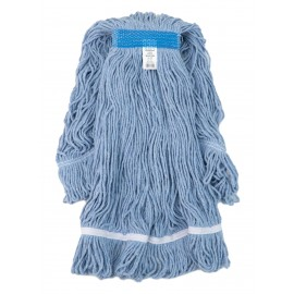 String Mop Replacement Head - with Narrow Strips and Looped End - Extra-Large - Blue - Select BEB4I