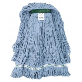 String Mop Replacement Head - Synthetic Washing Mops - with Narrow Strips and Looped End - Extra-Large - 32 oz (907 g) - Blue - Globe 3832