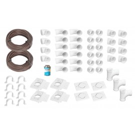 Installation Kit for Central Vacuum - 4 Inlets - with Accessories