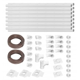 Installation Kit for Central Vacuum - 3 Inlets - 75' (23 m) Piping - with Accessories