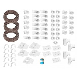 Installation Kit for Central Vacuum - 5 Inlets - with Accessories