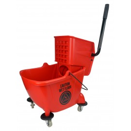Sidepress Wringer Bucket Combo - 6 gal (26 L) - Red