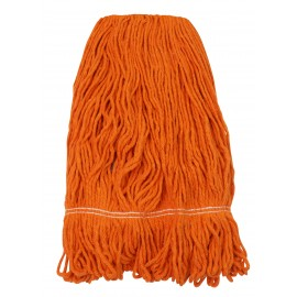 String Mop Replacement Head - Synthetic Washing Mops - 24 oz (680 g) - Orange - Globe 3092O