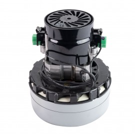 "Vacuum Motor - 5.7"" dia - 2 Fans - 120 V - 7.9 A - 918 W - 255 Airwatts - 84.9"" Water Lift - 97 CFM - Epoxy Paint - Lamb / Ametek 116757-13"