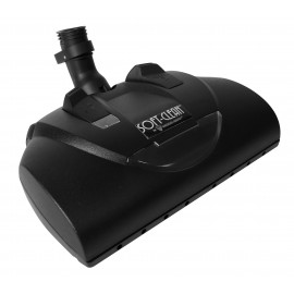 """Power Nozzle - 12"""" (30.5 cm) Width - Adjustable Height - Quick Connect/Release - Black - Geared Belt - Headlight - for shaggy carpets - Wessel-Werk 13.9 044-300SC"""