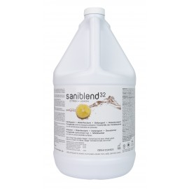 Saniblend RTU- Cleaner - Deodorizer - Disinfectant - Ready to Use - Lemon - 1.06 gal (4 L) - Safeblend S32L G04 - Disinfectant for use against coronavirus (COVID-19)