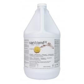 Nettoyant Saniblend 32 - désodorisant - désinfectant - concentré - citron - 4 L (1,06 gal) - Safeblend S32L G04 - désinfectant