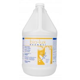 Savon liquide pour les mains antimicrobien Bio-Lux Orangel - prêt à utiliser - 4 L (1,06 gal) - Safeblend BIOR - désinfectant à utiliser contre le coronavirus (COVID-19)