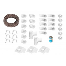 Installation Kit for Central Vacuum - 3 Inlets - with Accessories