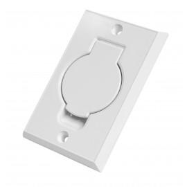 Prise murale - pour installation aspirateur central - blanc - Hayden 791500WNL