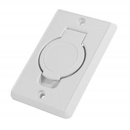 Prise murale - pour installation aspirateur central - blanc - Plastiflex SV8016