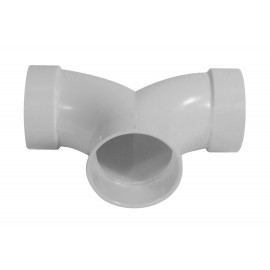 """Raccord court en forme de """"T"""" - pour installation aspirateur central - blanc - Plastiflex 765515W"""