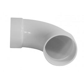"Coude 90° - raccord en ""L"" - pour installation aspirateur central - blanc - Hayden 765510W"