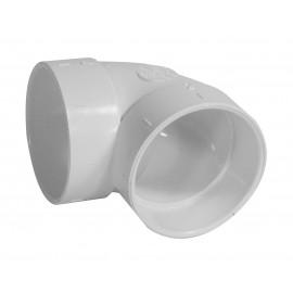 """Coude 90° court - raccord en """"L"""" - pour installation aspirateur central - blanc - Hayden 765506W"""