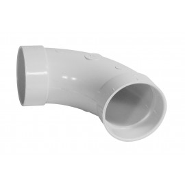 """Coude 90° - raccord en """"L"""" - pour installation aspirateur central - blanc - Plastiflex SV8042"""