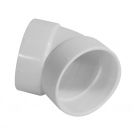 """45° Elbow - """"L"""" Fitting - for Central Vacuum Installation - White - Hayden 765517W"""