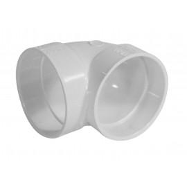 Coude 90° court - pour installation aspirateur central - blanc - Plastiflex SV8052