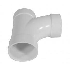 "Coude 90° - raccord en ""T"" - pour installation aspirateur central - blanc - Hayden 765501W"
