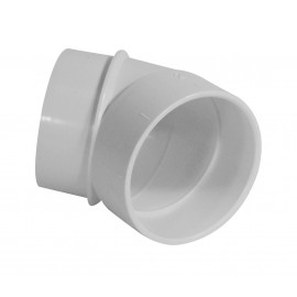 Coude 45° M/F - raccord pour installation aspirateur central - blanc - Hayden 765518W