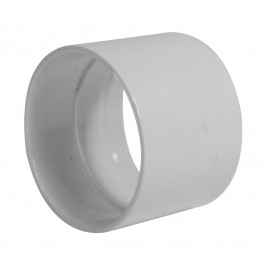 Stop Coupling for Pipe 2'' - Fitting for Central Vacuum Installation - White - Plastiflex SV8062