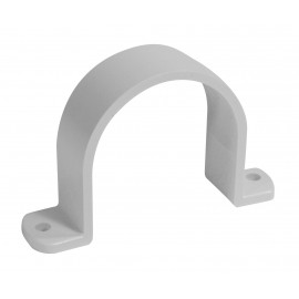 "2"" Pipe Strap - for Central Vacuum Installation - White - Plastiflex SV8088-M"