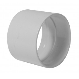 Stop Coupling for Pipe 2'' - Fitting for Central Vacuum Installation - White - Hayden 765529W