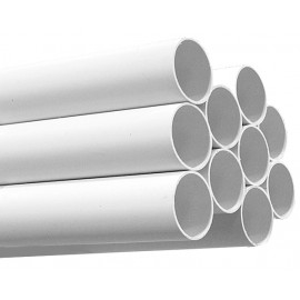 "PVC Pipe - 2"" (50.8 mm) diameter - 8' (2.4 m) lenght - for Central Vacuum Installation - White - 80' Bundle"