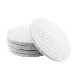 """Tampons pour polisseuse à plancher - super polissant - pour vaporiser/polir - 12"""" (30,4 cm) - blanc - boîte de 5 - 66261000176"""