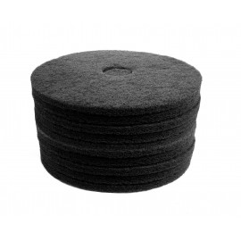 """Floor Machine Pads - for Stripping - 17"""" (43.2 cm) - Black - 2 Boxes of 5 - 66261054227"""