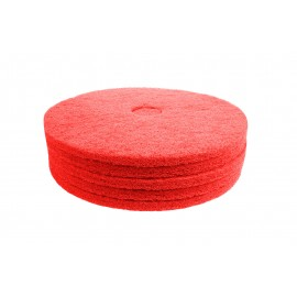 "Floor Machine Pads - for Buffer - Spray Buff - 17"" (43.1 cm) - Red - Box of 5 - 66261054276"