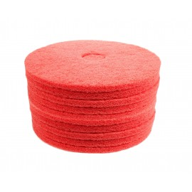 """Floor Machine Pads - for Buffer - Spray Buff - 17"""" (43.2 cm) - Red - 2 Boxes of 5 - 6261054276"""