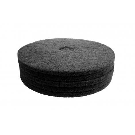 """Floor Machine Pads - for Stripping - 18"""" (45.7 cm) - Black - Box of 5 - 66261054228"""