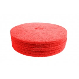 "Floor Machine Pads - for Buffer - Spray Buff - 18"" (45.7 cm) - Red - Box of 5 - 66261054277"