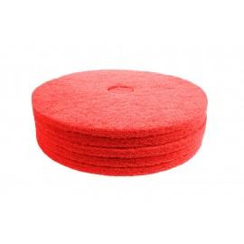 """Tampons pour polisseuse à plancher - pour lustrer et vaporiser/polir - 18"""" (45,7 cm) - rouge - boîte de 5 - 66261054277"""