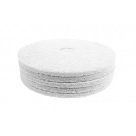"""Tampons pour polisseuse à plancher - super polissant - pour vaporiser/polir - 18"""" (45,7 cm) - blanc - boîte de 5 - 66261054210"""