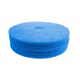 "Floor Machine Pads - For Super Scrub - 19"" (45.7 cm) - Blue - Box of 5 - 66261054246"