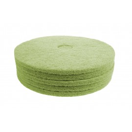 "Floor Machine Pads - For Scrubbing - 19"" (45,7 cm) - Green - Box of 5"