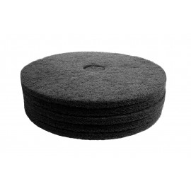 "Floor Machine Pads - for Stripping - 19"" (48.2 cm) - Black - Box of 5 - 66261054229"