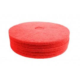 """Tampons pour polisseuse à plancher - pour lustrer et vaporiser/polir - 19"""" (48,2 cm) - rouge - boîte de 5 - 66261054278"""