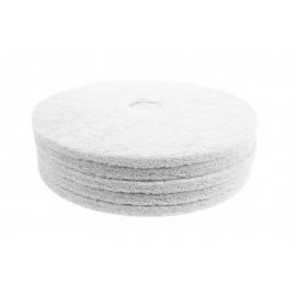"Floor Machine Pads - Super Polish - Spray Buff - 19"" (48.2 cm) - White - Box of 5 - 66261054211"