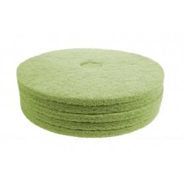 """Tampons pour polisseuse à plancher - pour récurer - 20"""" (50,8 cm) - vert - boîte de 5 - 66261054264"""