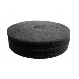 """Floor Machine Pads - for Stripping - 20"""" (50.8 cm) - Black - Box of 5 - 66261054230"""