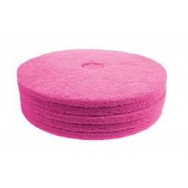 "Floor Machine Pads - for High Speed Burnishing - 20"" (50.8 cm) - Pink - Box of 5 - 66261005155"